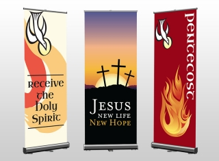 Pic of Church Pull-Up Banners